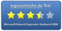Microsoft Natural Ergonomic Keyboard 4000 Bewertung